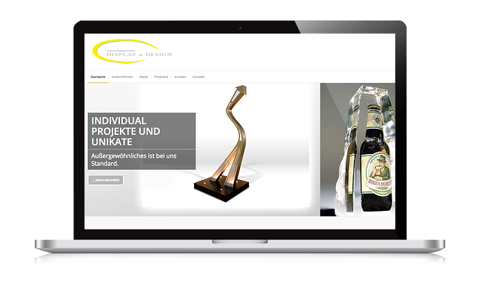 Referenz Internet Display und Design